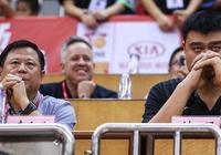 中國籃協主席姚明現場觀戰男籃紅隊斯杯首戰