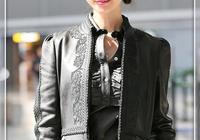 林志玲不走少女風就對了!黑皮衣配皮裙御姐範十足,早該這樣穿了