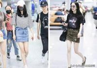 這些夏日穿搭都好仙女啊!楊冪短款黑t+高腰短褲,盡顯大長腿