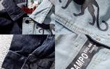 中國有嘻哈牛仔夾克吳亦同款外套港風潮男拼接印花飄帶牛仔外套