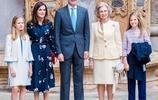 西班牙王后碎花長裙遭80歲婆婆搶風頭 兩小公主亭亭玉立顏值超高