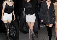 美國網紅屆的超模吉吉哈迪德參加夜場聚會的時尚打扮