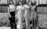 老照片,穿旗袍的民國女子,穿上旗袍的女性原來這麼美