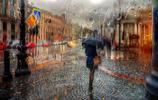 雨中如畫的聖彼得堡