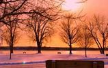 全面屏壁紙,夕陽下的景物,光影迷離,無限美好