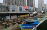 加緊施工中,武漢地鐵8號線街道口站施工實拍