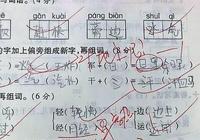 雷人的小學生試卷答題