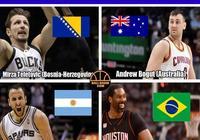 世界每個國家最好的NBA球員有哪些?