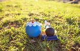 我們童年的回憶,哆啦A夢與野比大雄的玩偶小清新攝影圖片