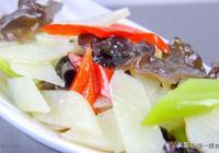 第一美食:木耳山藥怎樣做清脆不變色?大廚分享一訣竅,少油清脆