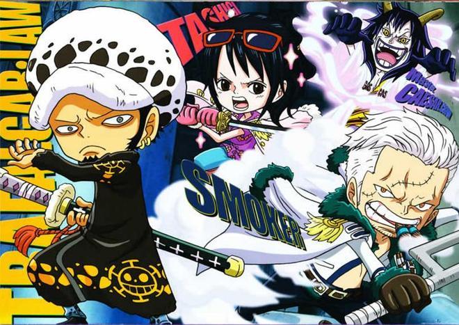 《海賊王》Q版人物圖,路飛、羅和喬巴變成萌娃
