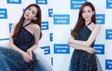 45歲林志玲是少見的不敗美人!穿掛脖星空裙,走到哪裡都搶鏡