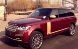 路虎攬勝中國龍版,罕見暗紅色外觀,打開車門令人敬畏