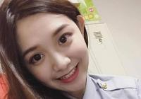 """臺灣網上熱議的漂亮女警""""桃桃"""""""