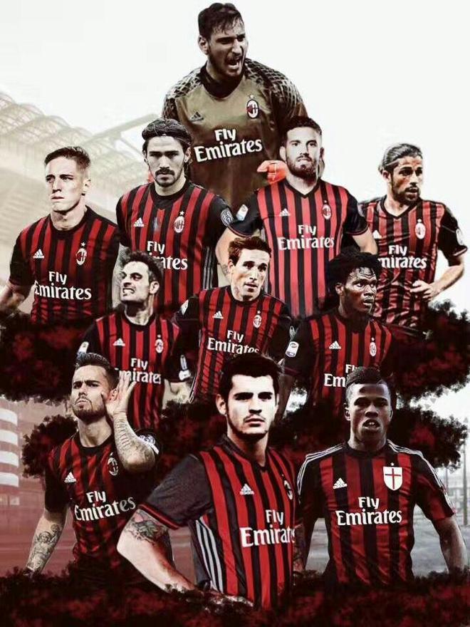 紅黑軍團AC米蘭高清壁紙,AC米蘭的球迷速來領取!