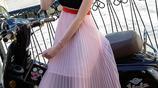 2017夏季新款韓版雪紡長裙女夏性感抹胸V領吊帶連衣裙顯瘦中長款