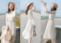 春天很流行的6款收腰顯高連衣裙,小個子最適合穿,顯瘦又好看