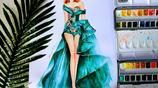 服裝設計秀場手稿,驚豔!