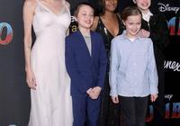 朱莉帶龍鳳胎女兒現身,穿平底鞋搭瘦腿褲,腿和11歲薇薇安一樣粗