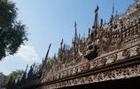 美景遊玩 緬甸曼德勒柚木寺廟旅遊遊記 陽光的照耀下顯得格外典雅
