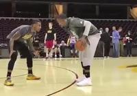 JR-史密斯與香珀特訓練時玩單挑