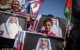 加沙:非政府組織成員遊行 抗議沙特等國宣佈與卡塔爾斷交