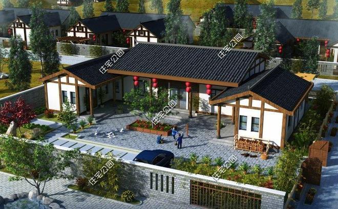 新中式合院20套,這才是農村別墅應該的樣子,心動不?