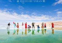 一幫福建遊客在茫崖意外發現中國最美的天空之鏡,玩到不想離開