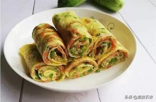 5分鐘自制營養好吃的早餐餅——有雞蛋青椒就夠了