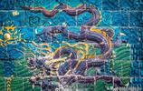 實拍中國最早的九龍壁,大同朱桂代王府前的影壁,如今已600年