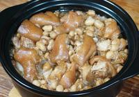 客家人軟糯油亮的花生豬腳煲,做法很簡單!