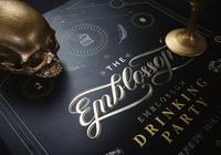 由中國成都工作室Mojo設計的Emblosom酒吧黑金形象品牌視覺!