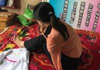 女子因意外失去雙臂,現在用雙腳做刺繡補貼家用,堅強面對人生