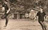 老照片,貓王打橄欖球