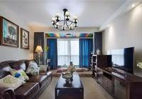 寶雞裝飾公司:美式簡約裝修效果圖 135平米打造清新的美式三居室