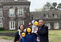 甘比劉鑾雄一家英國度假,劉鑾雄頭髮鬍子全白比甘比媽媽還要老