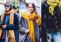 大衣配圍巾,這3種系法最好看!