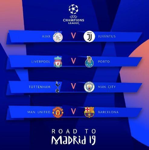 歐冠8強對陣分析:2豪門晉級無懸念,梅西C羅有望在決賽相遇