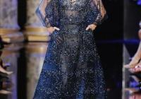 秀場回顧 再來一波 Elie Saab 藍色漸變的仙女裙 深邃又迷人