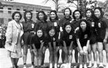 八張罕見的民國女大學生老照片,個個朝氣蓬勃