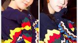 38歲陳喬恩穿花色毛衣與17歲歐陽娜娜撞衫,看不出年齡差