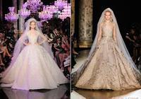 艾莉·薩博高級定製秀上的壓軸大婚紗 大裙襬真的很高級