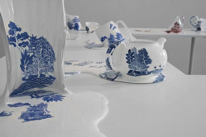 融化的陶瓷