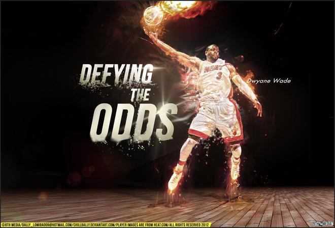 NBA球星特效壁紙 德維恩 韋德 電腦霸屏壁紙 歡迎保存