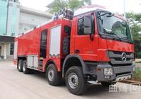 沾益250萬元的大功率泡沫消防車正式服役