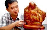 """一尊玉化奇石酷似""""老壽星"""",有人出價50萬沒賣,專家說值600萬"""