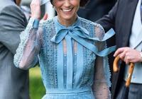 凱特王妃一襲藍裙超仙美!戴安娜侄女穿米色蕾絲裙氣質不輸王妃