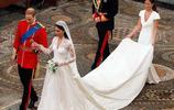 看完日本皇室女性結婚穿搭的服飾,再看看英國王室,兩者風格迥異