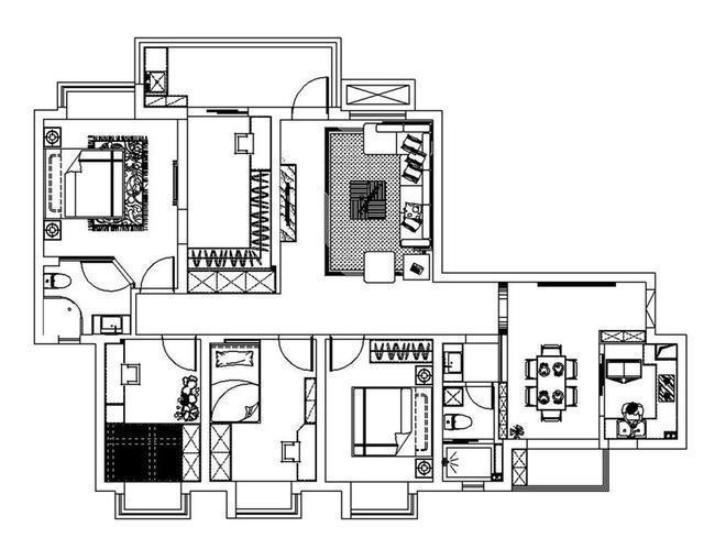 太不敢相信了160平四居室,全包花了19萬,還是歐式風格!-曙光村裝修