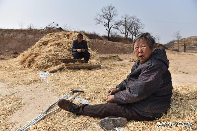 老倆口不顧年邁幫女兒鍘乾草,心裡真喜歡,原因是日常照料的好